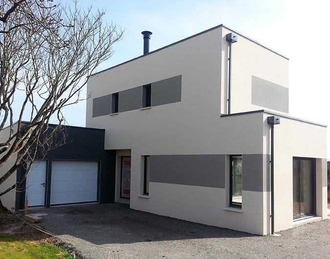 Maison contemporaine à Angers avec garage