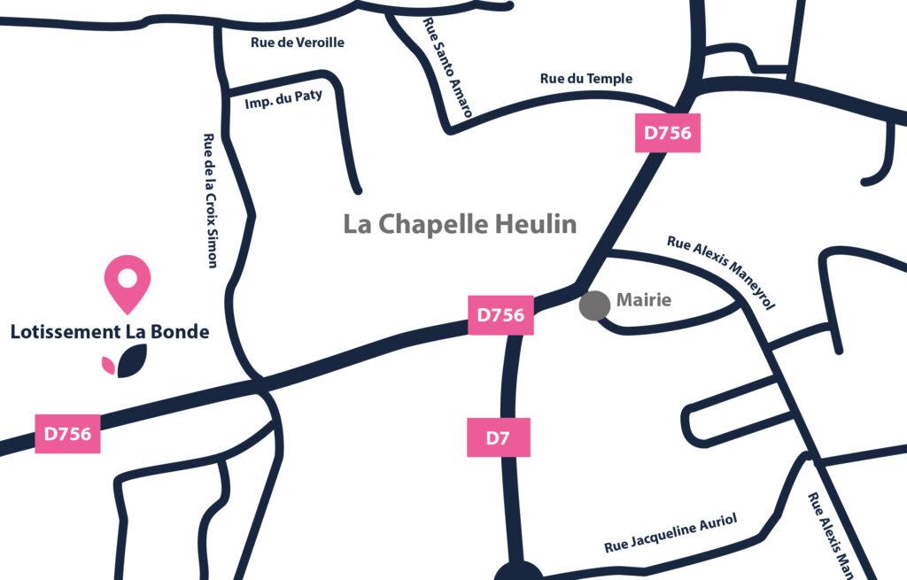 Plan Chapelle Heulin- Lotissement la Bonde